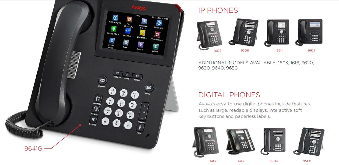 Avaya IP Phones & Digital Phones